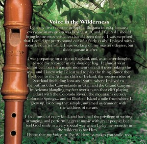 Voice In The Wilderness 2